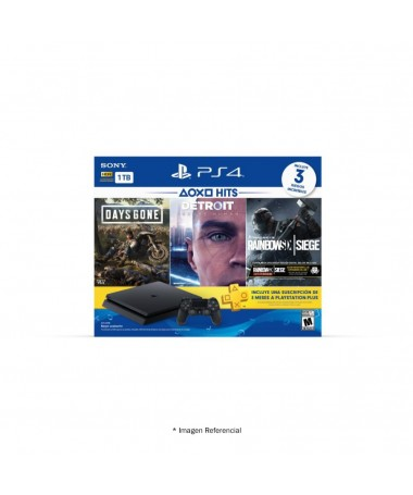 Play Station 4 Sony 1tb Hits 5 + 3 Physical Games + 1 Controller