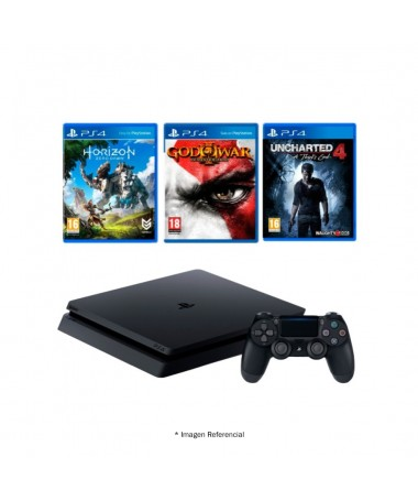PLAY STATION 4 HITS 2 500GB INCLUDES 3 GAMES + 1 SUBSCRIPTION FOR 3 MONTHS