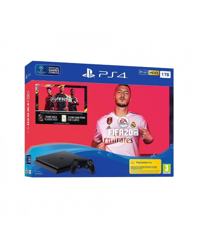 Playstation 4 Ps4 Slim 1tb New + Physical Game Fifa20 2020