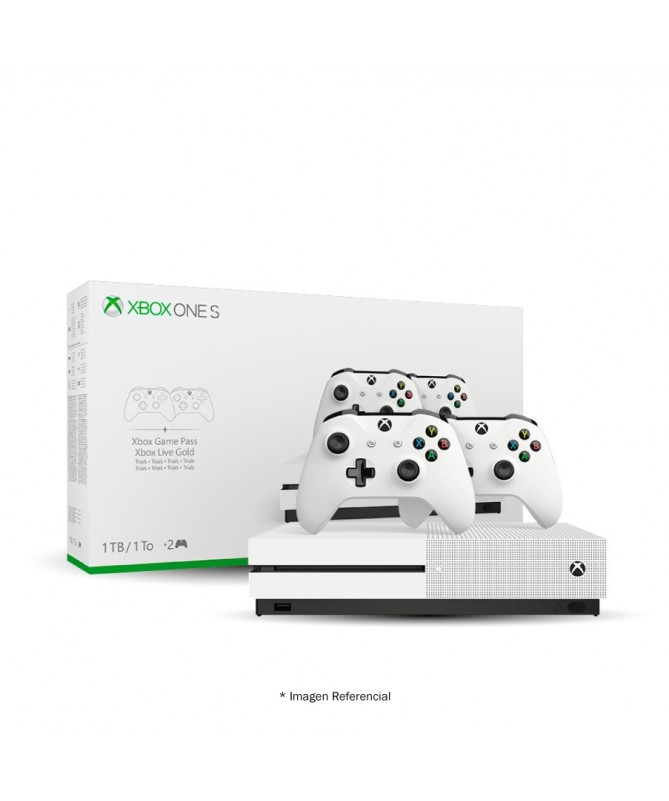 Xbox One S 1tb 4k With Two Wireless Controls M1681