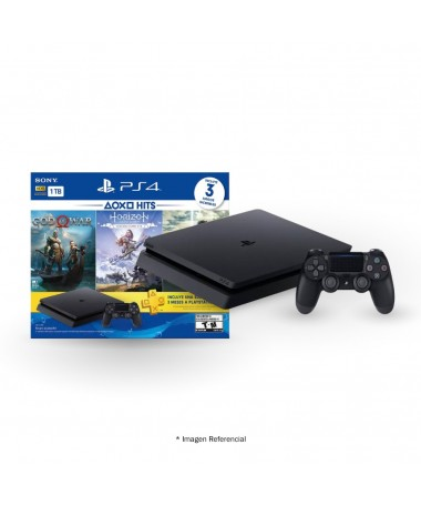 Play Station 4 Sony 1tb Hits 4 + 3 Physical Games + 1 Controller