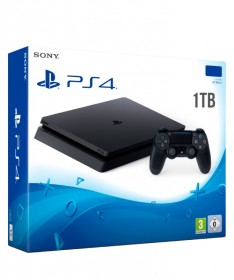 Console Sony Play Station 4 Slim Ps4 1terra 1000gb Color Black