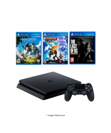 Play Station 4 Hits Bundle 500gb Includes 3 Games + 1 Subscription for 3 months